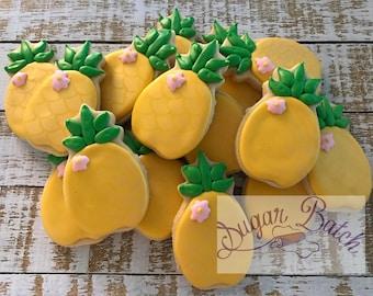 2 Dozen Mini Pineapple Decorated Cookies Set