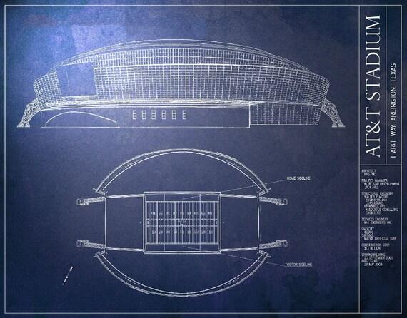 Att stadium blueprint dallas cowboys vintage football malvernweather Images