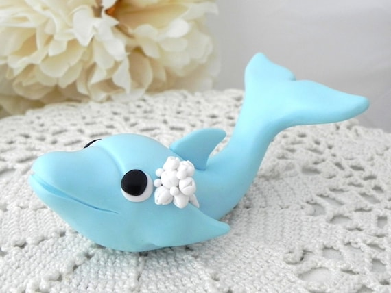 Dolphin Cake Topper, Birthday or Baby Shower, Keepsake, Nursery Decor