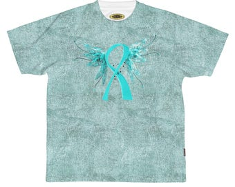Winged Ribbon  Ovarian Cancer Awarenessunisex Aop Sports Jersey