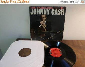 Save 30% Today Vintage 1958 Vinyl LP Record The Fabulous Johnny Cash Original Six Eye Label Very Good Condition 15374