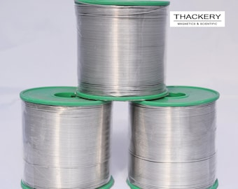 Thackery Silver Flux Core Solder Wire - SAC305 - available in 1mm and .8mm thickness - sold by the foot/meter