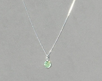 August Birthstone- Peridot Drop Necklace