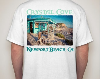 Crystal Cove Shack - T Shirt -Newport Beach  in White