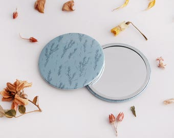 76mm Mirror, Pocket Mirror, Valentines Day Gift, Gift for Her, Bridesmaid Gift, Compact Mirror, Stocking Filler, Rustic Mirror, Purse Mirror