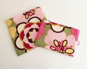 Reusable Snack & Sandwich Bag -- Spring Flowers, Eco-Friendly