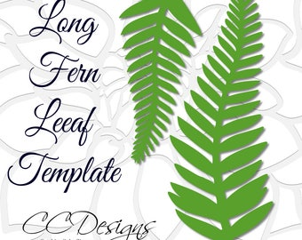 Long Fern Vine SVG Cutting Files, Giant Paper Flowers, Leaf and greenery vines, SVG files for Cricut & Silhouette