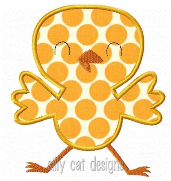 Chick2 Applique Machine Embroidery Design