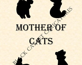 MOTHER OF CATS Sign Picture Decor