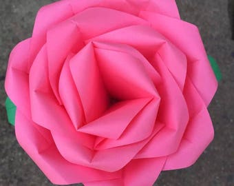 Lovely construction paper rose