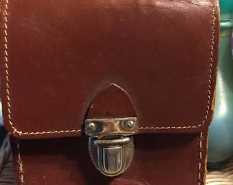 Vintage Elyte Brown Leather Camera Case Made in England