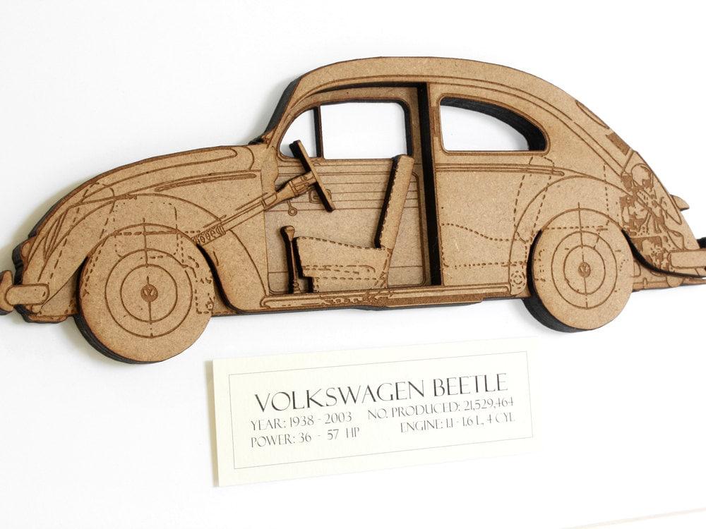 Volkswagen Beetle Blueprint VW Beetle Volkswagen Bug Wood