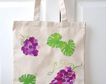 Classic purple grape vine tote