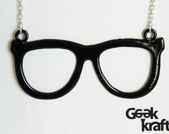 Geek Glasses Statement Necklace, geeky glasses, geek necklace, geeky jewellery