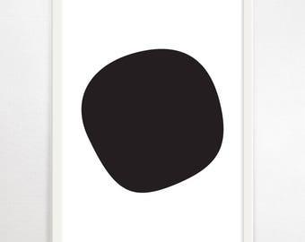 Minimalist Art, Monochrome Print, Abstract Art, Large Wall Art, Large Abstract, Scandinavian Art, Large Modern Art, Black & White Print