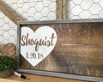 Rustic Wedding Guest Book Alternative -  Wood Wedding Sign - Custom Wedding Guestbook - Wedding Gift Sign - Wedding Sign In Book
