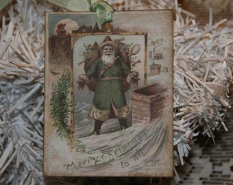 Old World Santa Merry Christmas to All Gift Tags