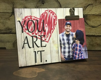 Gift For Her, Anniversary Gift, Valentine's Day Gift, Just Because, Gift For Him, 8x10 Photo Board With Clip Display