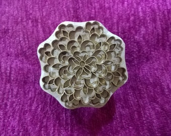 floral brass stamp, indian wood stamp, pottery stamp textile stamps tjaps,batik stamp