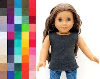 Fits like American Girl Doll Clothes - The Basic Tank, You Choose Color | 18 Inch Doll Clothes