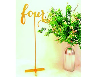 14 Inches Tall Table Numbers . Freestanding Wedding Numbers. Table Numbers.
