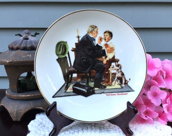 Norman Rockwell Collectible Plate, Vintage Collectible Plate, The Country Doctor by Norman Rockwell, Souvenir Plate, 1985
