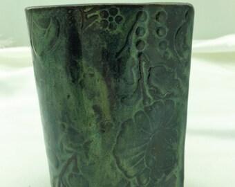 Ceramic Pencil Holder, Ceramic Brush Holder, Ceramic Utility Holder, Kitchen Decor, Artist Tool, Hostess Gift, Vase, Home Decor