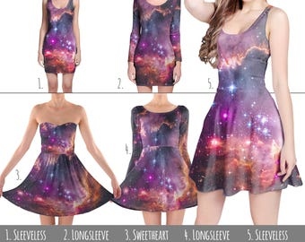 Fairytale Galaxy - Dress in XS-3XL - Flared, Bodycon, or Skater Style 000619
