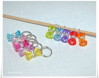 Stitch Markers for knitting ring stitch markers Beaded Stitchmarkers Knit