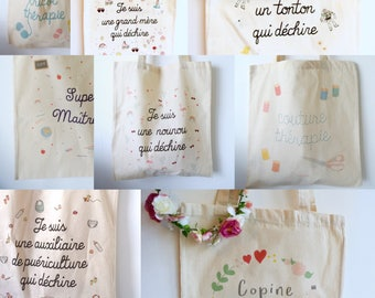 Tote bag-personalized - gift mother Grandma Nana gift her gift him personalized gift