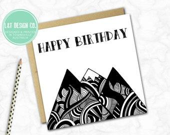 Birthday Card {Monochrome Mountains}
