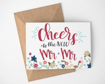 Just Married Card, Newly Married Gift, LGBT Wedding Card, Wedding Card Congratulations, Card For Wedding Day, Card For Wedding Gift