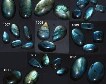 Natural Blue & Green Fire Labradorite Cabochon Gemstone Wholesale Lot Mix Shape Loose Gemstone For Jewelry Making
