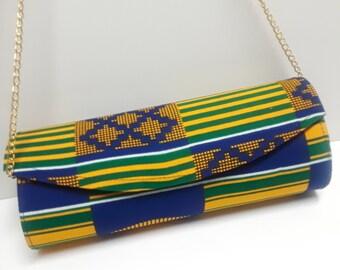 Kente Clutch, Ankara Clutch, African Print Clutch, Ankara Hand Bag, African Purse, African Gift For Her African Evening Clutch African Dress