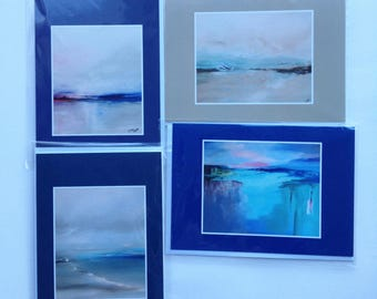 SeaPainter greetings cards, set of four, 15cm x 21cm, made from prints of my original seascape paintings
