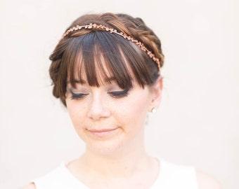 Rose Vine - Rose Gold Bridal Wedding Hair Accessories, bridal crown, headband,  hair vine, flower crown, hair piece, bridal hair piece,
