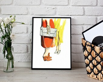 fashion illustration, wall decor, fashion print - 3 sizes available Giclee print