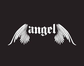 Angel Logo- Instant download - DIY logo, PSD logo template, Photoshop template - Digital prints