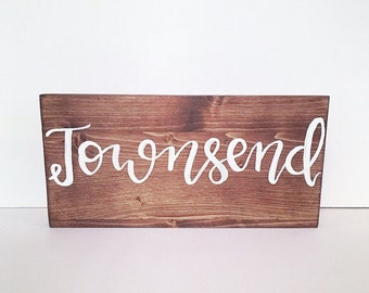Last name sign name sign wood sign wooden sign last name home decor sign gift sign family sign rustic decor rustic sign farmhouse sign home