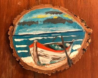 Handpainted nautical coasters