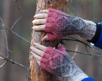 Fingerless mittens, armwarmers, gift for her, fingerless gloves
