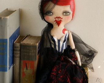 Handpainted Circus Art Doll - The Bearded Lady