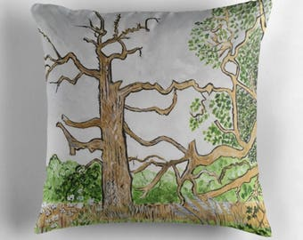 Beautiful Throw Cushion Featuring The Painting 'Lightning Strike'