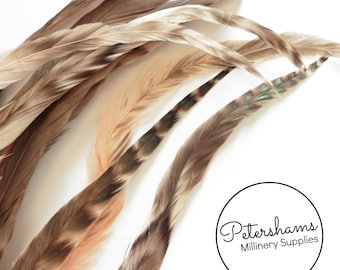 Full Coque Chinchilla Feathers for Millinery and Hat Trimming - Peach