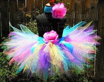 Girls Tutu, Baby Tutu, First Birthday Tutu, Tutu Set, Polka Dot Cutie, Pixie Tutu, Rainbow Tutu, Flower Girl Tutu, Newborn Photo Prop Tutu