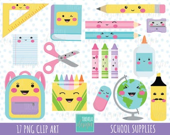 50% SALE SCHOOL clipart, teachers graphics, commercial use, back to school clipart, college clip art, kawaii clipart, cute graphics, pencil
