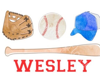 Watercolor Baseball