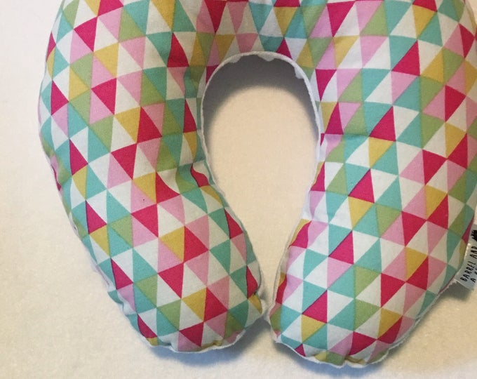 Colorful Triangle Travel Neck Pillow for Children and Adults