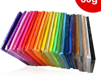 60g Polymer clay in the color you like ,custom colors, baking clay, clay material, clay supply