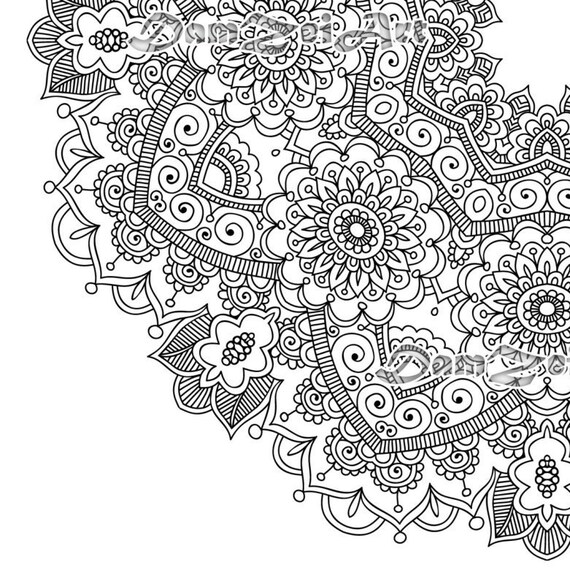 flower mandala coloring page printable pdf blank mandala. Black Bedroom Furniture Sets. Home Design Ideas